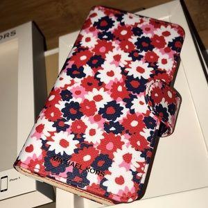 Michael Kors Accessories - MICHAEL KORS Carnation Folio Case IPhone X